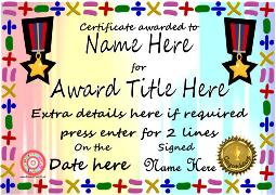 Editable Certificates - 1 - Primary Class.co.uk