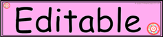 Tray Label Pink